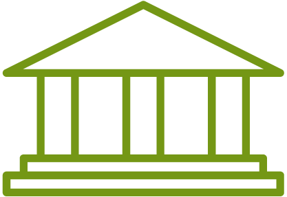 A graphic depicting a federal building.