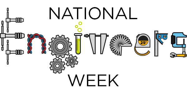 """An illustration reading, """"National Engineers Week."""""""