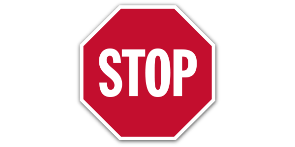 An illustration of a stop sign