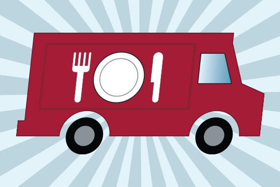 Illustration of a food truck
