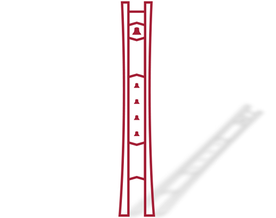 An illustration of Temple's iconic Bell Tower.