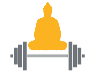 Meditating over weights.