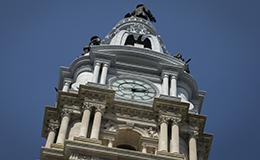 Philadelphia City Hall's tower.