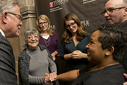 A student meeting Tina Fey and Fey's family.