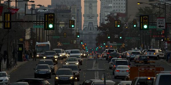Traffic on North Broad Street