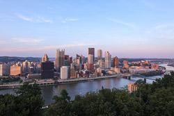 the Pittsburgh skyline