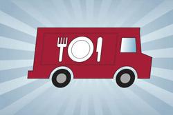 Cartoon of a lunch truck