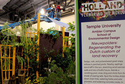 Temple's exhibit at the Philadelphia Flower Show.