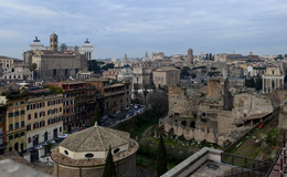 A view overlooking Rome, Italy.