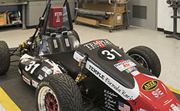 The Temple formula racing car.