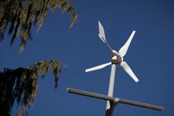 a wind turbine on Temple's Main Campus.