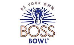 "Graphic with text that reads ""Be Your Own Boss Bowl."""