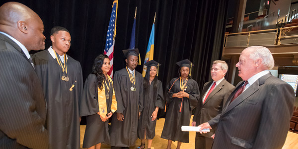 Recipients of the first Chairman's Scholarship at their high school graduation.