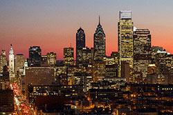 Philadelphia's skyline from Temple's Main Campus.