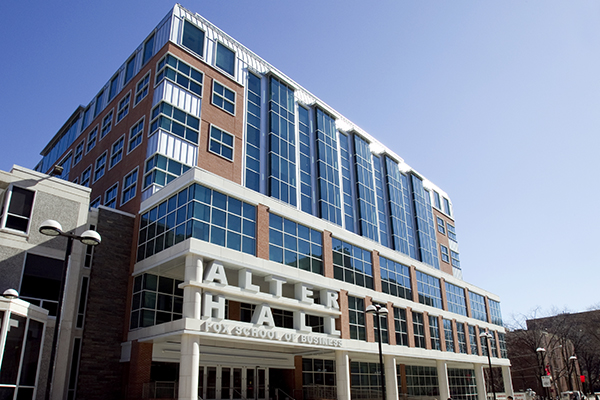 Alter Hall, which houses the Fox School of Business on Temple's Main Campus.
