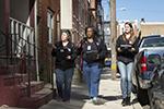 Temple field researchers canvassing a North Philadelphia neighborhood.