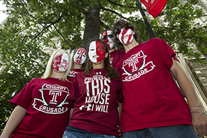 Students in their Cherry and White! #CherryOn