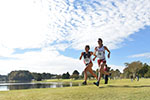 Fernandez races to a win in the American Athletic Conference championship.