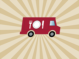 A graphic designed to represent the food truck culture on Main Campus.