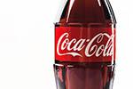 A large Coca Cola bottle.