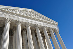 The exterior of the Supreme Court of the U.S.
