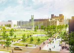 A rendering of the proposed quad on Temple's Main Campus